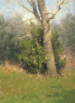 D. LaRue Mahlke, Signs of Spring, pastel, 8 x 6.