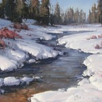 Josh Clare, Moosetrail Creek, oil, 30 x 40.
