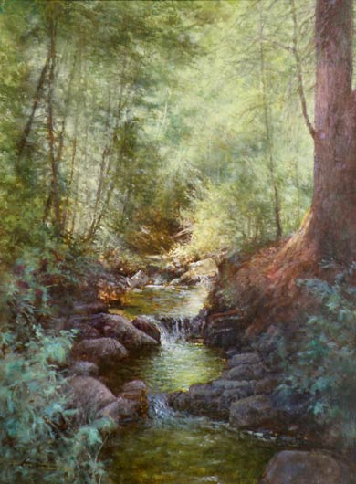 Emerlad Pools, oil.