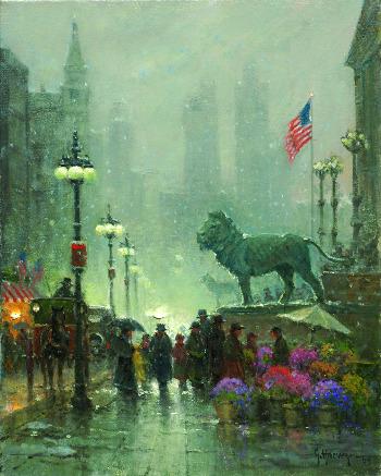 The Art Institute – Chicago, oil, 20 x 16