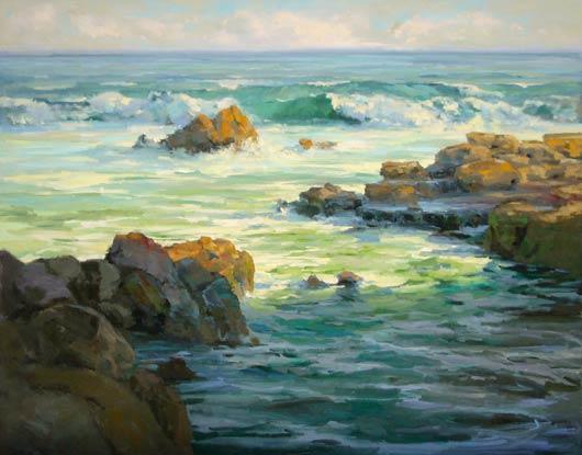 Punta Rugosa, oil, 48 x 60.