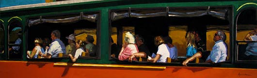 Trolley Tour, Oil, 24x7.