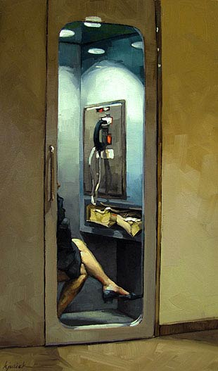 Right To Privacy, Oil, 12x7.