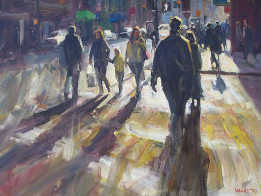 Crosswalk Connection, oil, 30 x 40.