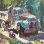 Rusted Old Dump Truck, oil, 20 x 24.