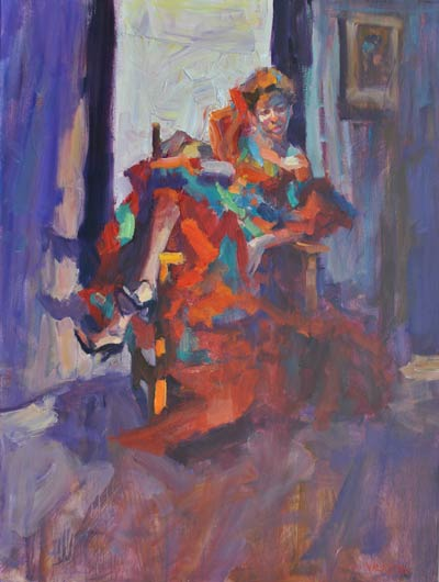 After the Dance, oil, 40 x 30.