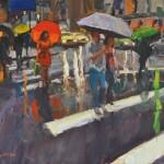 Crosswalk Colors, oil, 30 x 40.