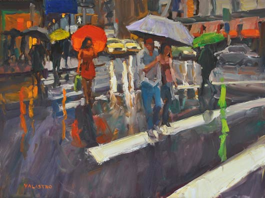 Crosswalk Colors, oil, 30 x 40.