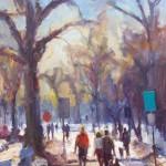 Washington Park Winter, oil, 40 x 30.
