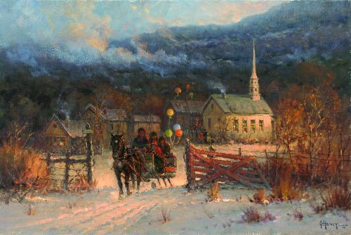 Winter Memories, oil, 20 x 30