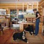 Kathleen Dunphy in her studio