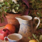 Azaleas, oil, 24 x 12.
