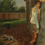 Andrea Kemp, Dusk, oil, 22 x 44.
