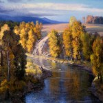 Evening on the Yampa River - Colorado, oil, 48 x 60.