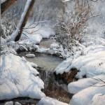 February Snow, oil, 11 x 14.
