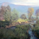 Morning Towards Luray, oil, 24 x 36.