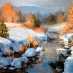Shenandoah Snow, oil.