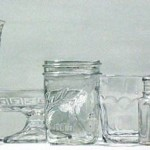 Clear Glassware, watercolor, 12 x 28.
