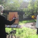 Plein-air painting in Washington Park