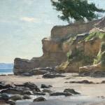 Ledbetter Cliff, oil, 7 x 10.