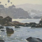 Tranquil Shores, oil, 7 x 10.