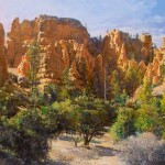 Red Canyon, oil, 27 x 40.