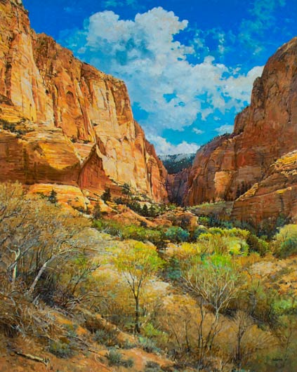 South Fork - Kolob Canyon, oil, 50 x 40.