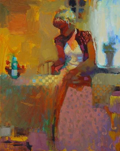 Back Light, oil, 24 x 30.