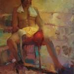 Boxer II, oil, 36 x 48.