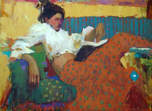 Summer Reads, oil, 36 x 48.
