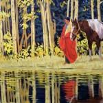 The Healing Stream II, oil, 28 x 40.