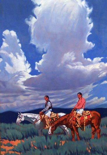 Thunderheads Over Taos, oil, 40 x 28.