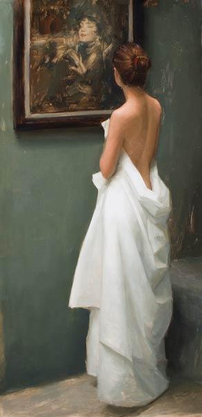 Admiration, oil, 48 x 24.