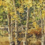 Afternoon Aspens #3, oil, 12 x 16.