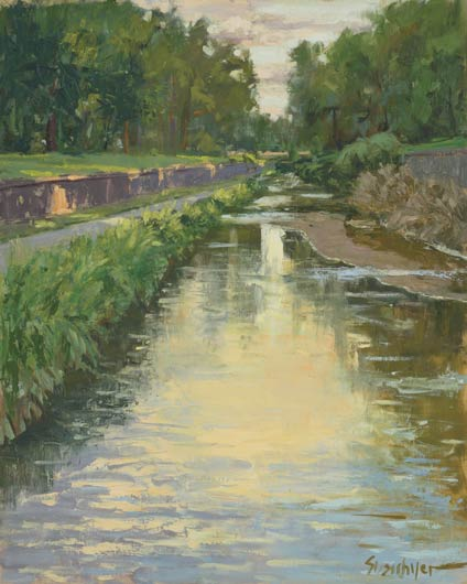 Along Cherry Creek, oil, 24 x 18.
