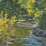 Autumn on Bear Creek, oil, 16 x 12.