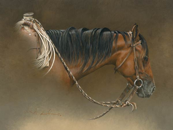 Buckaroo, colored pencil, 14 x 18.