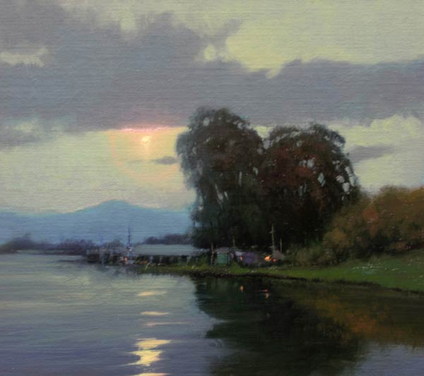 Delta Nocturne, oil, 10 x 11.