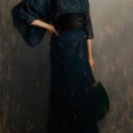 Evening Kimono, oil, 40 x 20.