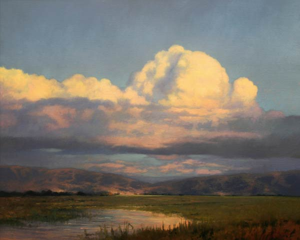 Evenings Light, oil, 24 x 30.