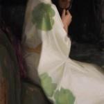 Furisode Kimono, oil, 40 x 20.