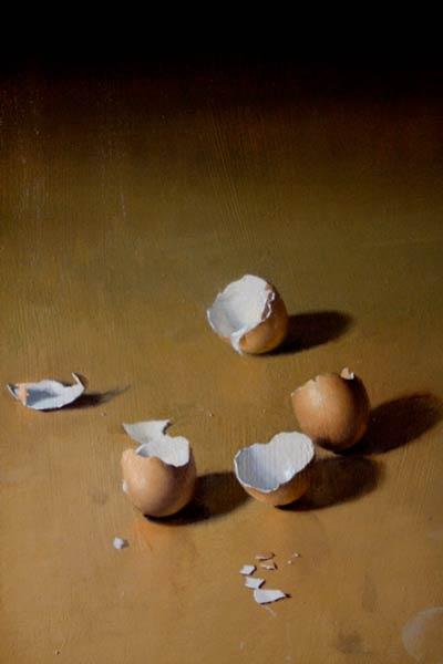 Golden Eggs, oil, 12 x 16.