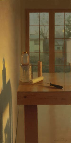 Midnight Glow, oil, 12 x 24.