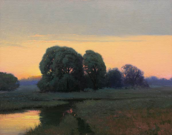 November Morning, oil, 11 x 14.