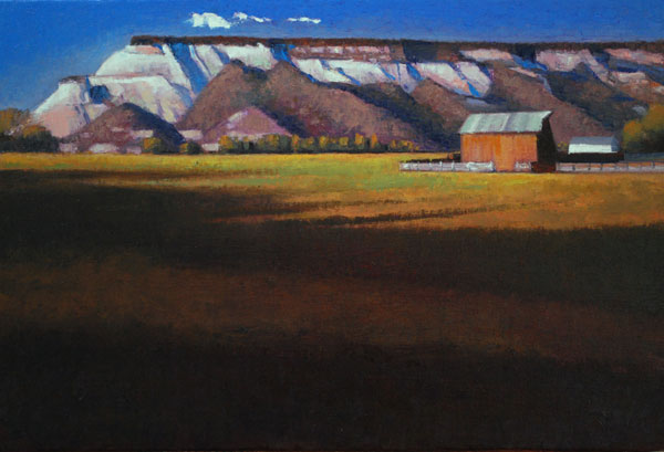 White Sandstone Hills, oil, 16 x 24.