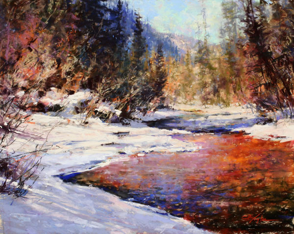 Beautiful Snow, pastel, 16 x 20.