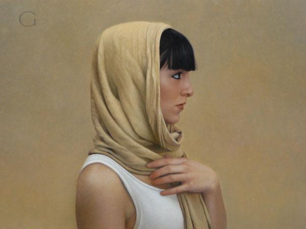 Rebecca, oil, 9 x 12.