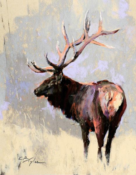Elk Mini, pastel, 8 x 6.