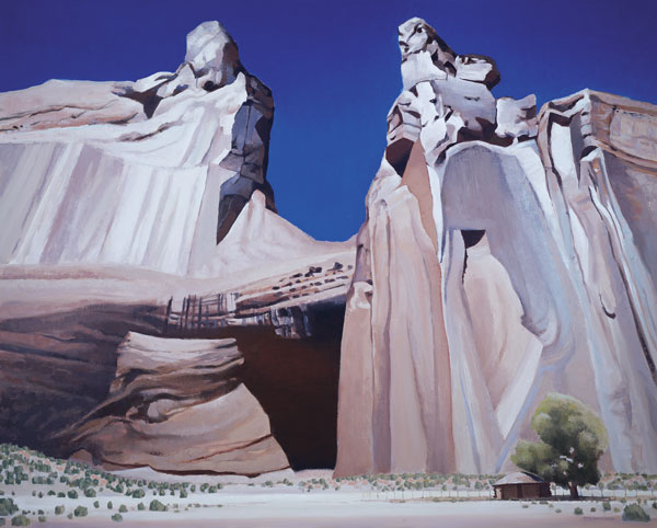 Canyon Dwelling, oil, 48 x 60.