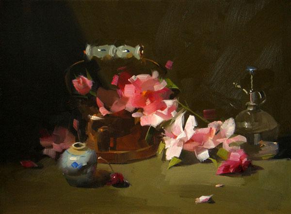 Color Cascade, oil, 16 x 12.
